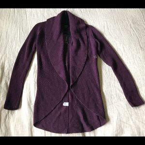Express purple shawl collar circle cardigan NWT